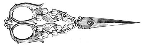 free vintage clip art ladies ornate sewing scissors