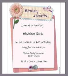 Birthday Invitation Letter Template sle birthday invitation template 40 documents in pdf