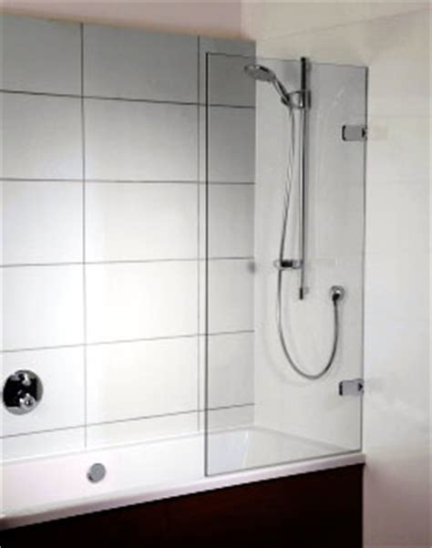 Frameless Shower Doors Made To Measure by Tailor Made Single Panel Bath Screens From Showerpower