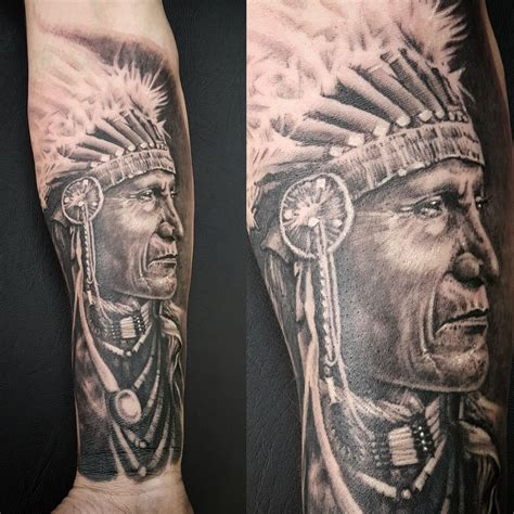 india tattoo indian chief by matt parkin soular