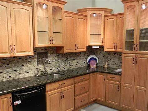 kitchen backsplash with oak cabinets and black appliances backsplash ideas for black granite countertops and maple