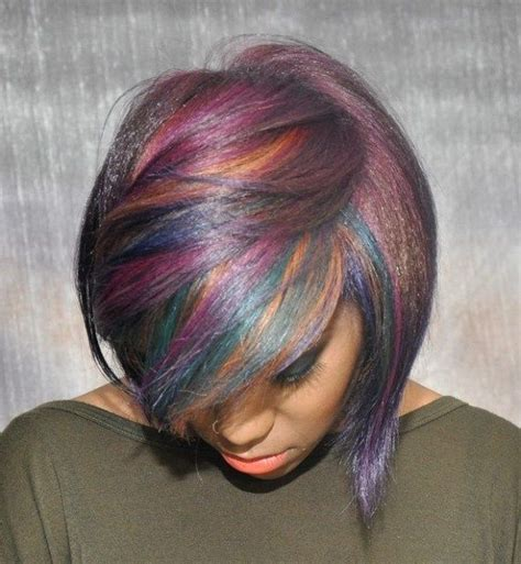 black hair with colored highlights 25 best black bob hairstyles ideas on black