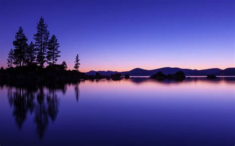Computer Desk Sand Harbor Twilight By Tim Miley Desktop Wallpaper