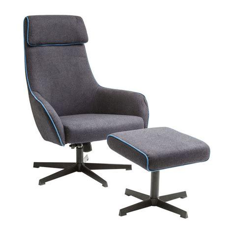 grijze moderne fauteuil kare design long island grijze fauteuil met voetenbank