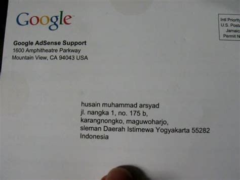 adsense verification code finally my pin code from google has arrived in my home