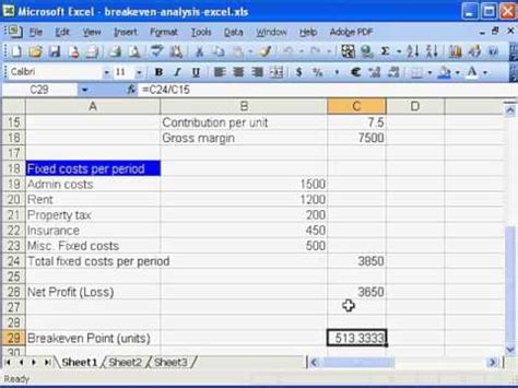 excel magic trick 744 break even analysis formulas chart plotting break even point easily explained doovi