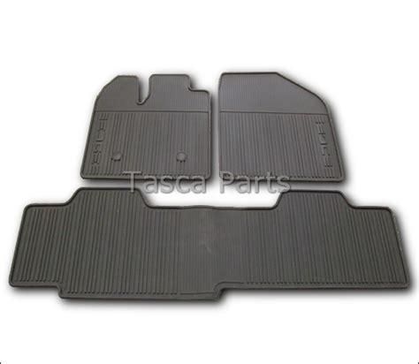 Ford Edge Floor Mats 2013 by Brand New Oem Black All Weather Vinyl Rubber Floor Mats