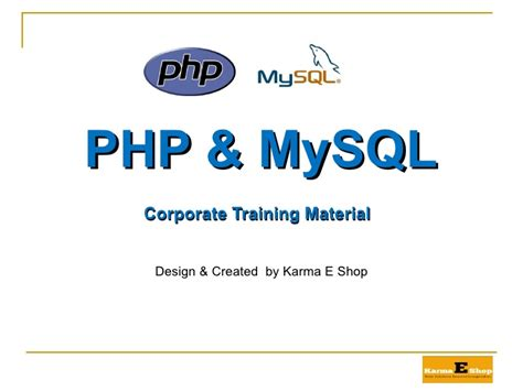 tutorial php ppt php mysql ppt