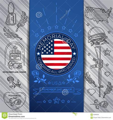 concept design usa memorial day concept design remember and honor vector