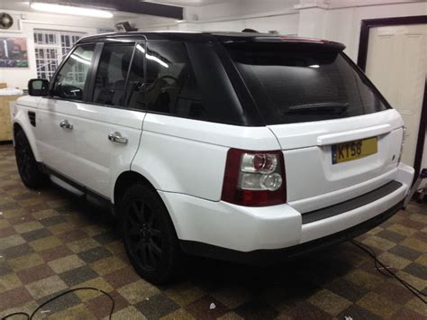 wrapped range rover range rover sport wrapped white