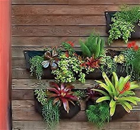 Large Outdoor Wall Planters Large 1 Pocket Vertical Garden Planter Living Wall