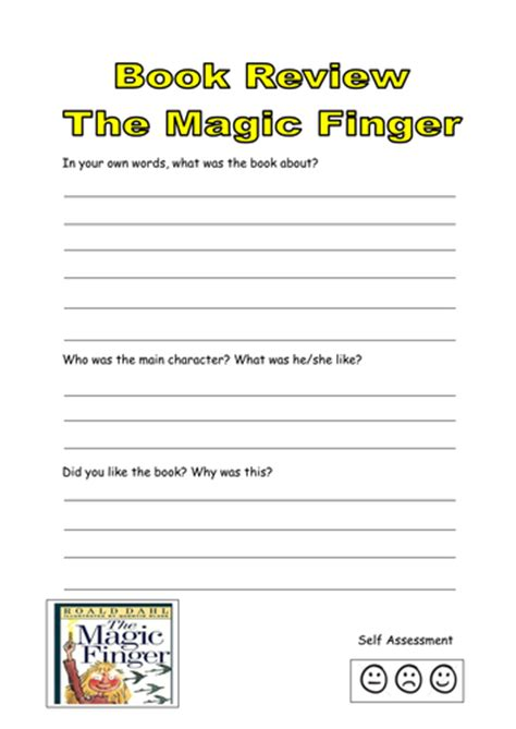 roald dahl book review template the magic finger book club by jjennyw teaching resources