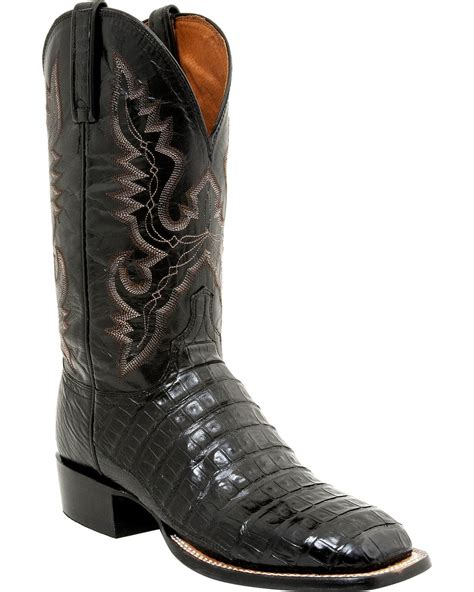 lucchese mens roper boots lucchese s caiman roper boot square toe cl1009
