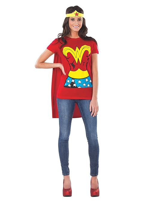 comfortable halloween costumes for adults wonder woman t shirt costume for adults adult wonder
