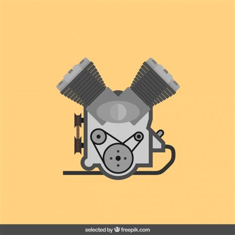vector motor layout engine in flat design style vector free download