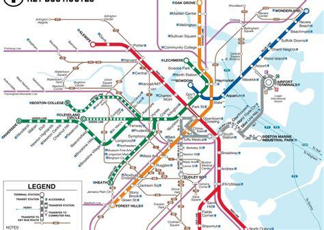 boston metro map boston t map
