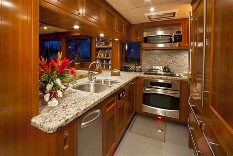 yacht galley layout review nordhavn yachts 63 expedition trawler