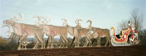rooftop santa sleigh with reindeer original santa sleigh reindeer for rooftop paul barker copy googleplex murals