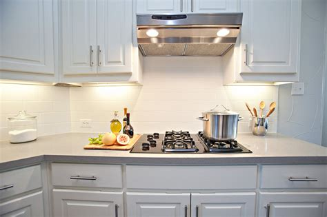 new white kitchen with subway tile backsplash awesome