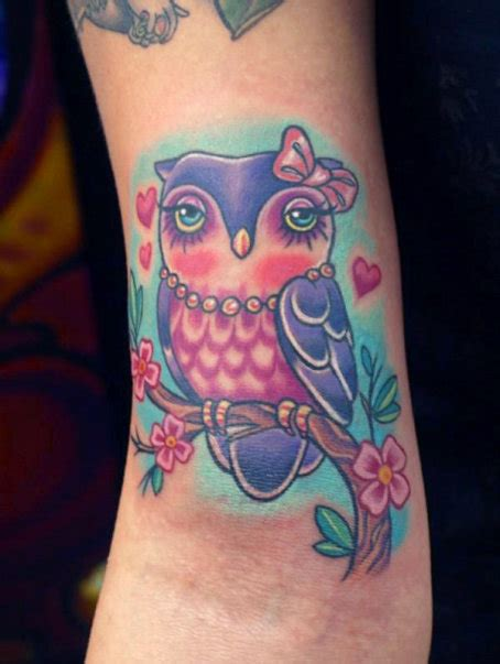 girly owl tattoos must girly owl tattoos