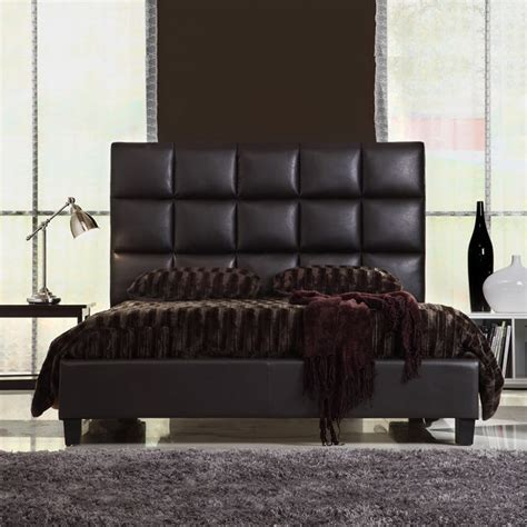 leather queen headboards queen size modern bed with faux leather headboard home