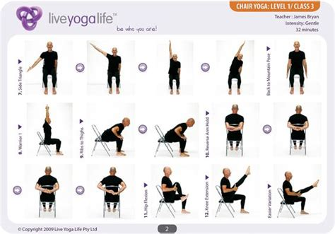 printable chair yoga poses easy yoga poses for seniors yoga with a chair level 1