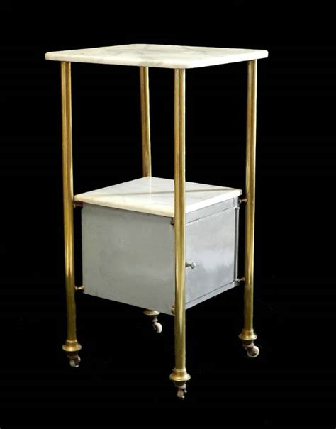 Brass Bedside Table Ls by Side Cabinet Nightstand Bedside Table Brass Marble