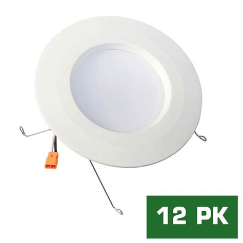 Led Bulbs For Pot Lights Envirolite Easy Up 4 In Warm White Led Recessed Light With 93 Cri 3000k J Box No Can Needed