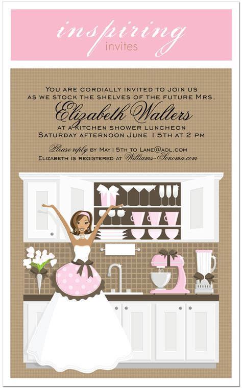 Kitchen Bridal Shower Invitations by Kitchen Bridal Shower Invitations Plumegiant
