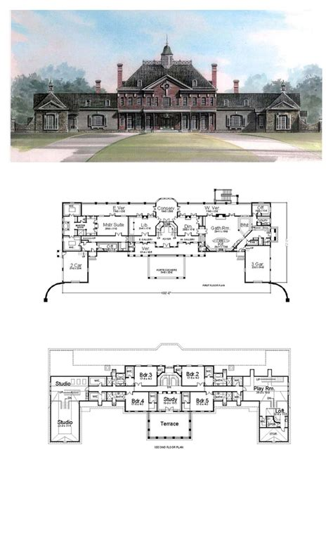 greek revival floor plans greek revival house plans 98256 total living area 9581