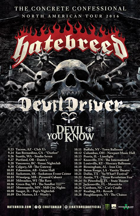 hatebreed announce new tour dates release