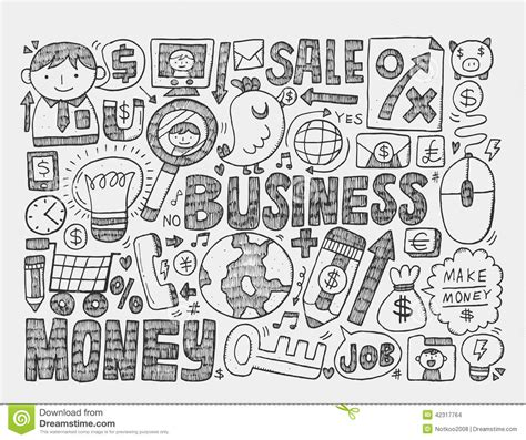 business doodle vector free doodle business background stock vector illustration of