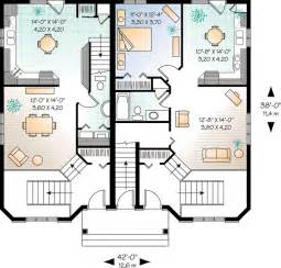 house design families 2 plan w21428dr three unit apartment house plan e
