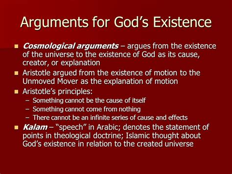 the god argument the chapter 12 is there a god ppt video online download