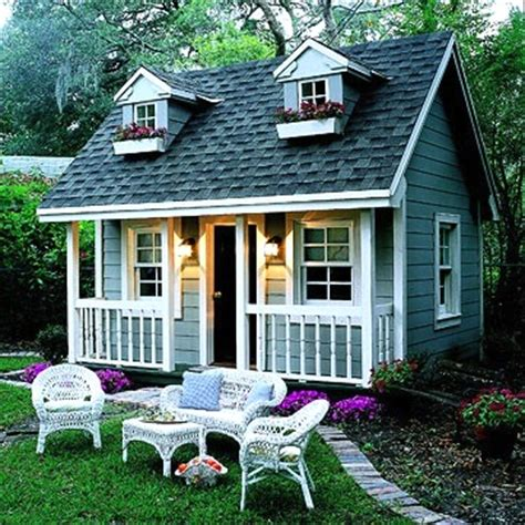 Building A Guest House In Your Backyard by Using Vintage Furniture In Playhouses Smart Idea And Trendy