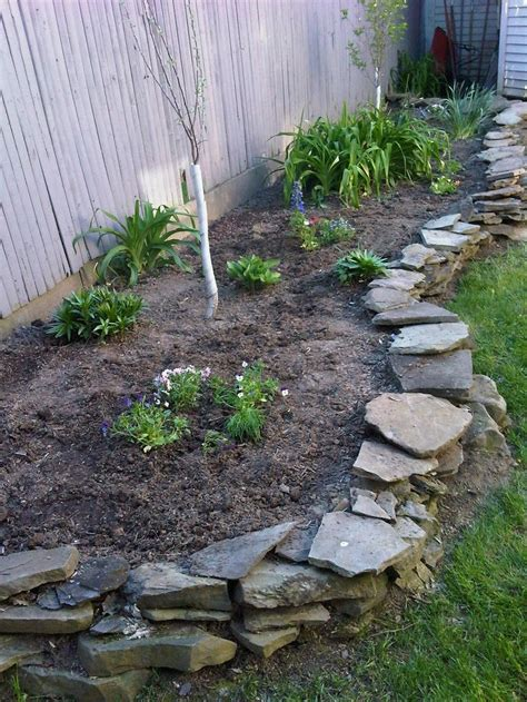Planted An Apple And Plum Tree And Some Flowers For Rock Garden Borders
