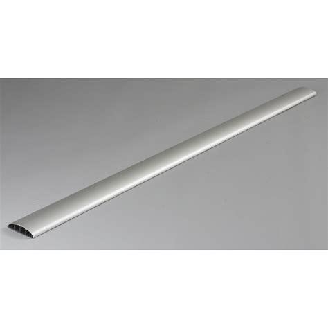 cache cable pour bureau cache c 226 ble aluminium pour moulure h 100 x p 7 cm leroy