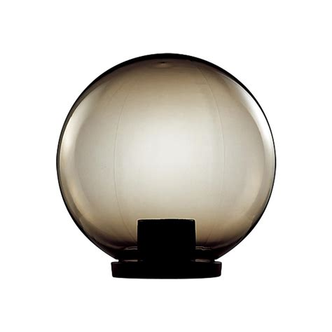 polycarbonate 400mm sphere garden light 240v black base