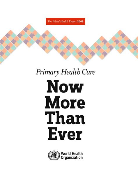 now health world health organization 2008 primary health care now