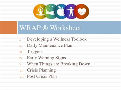 wellness and recovery plan template wellness recovery plan 174