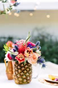 how to make a floral centerpiece our floral tablescape in palm springs pineapple