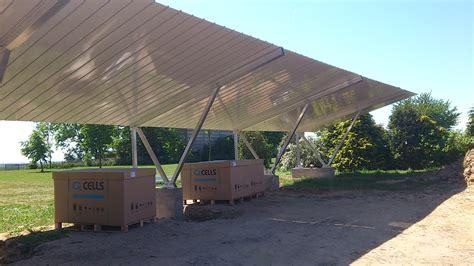 carport dacheindeckung pilotprojekt solarcarpot woche 3 fertigstellung