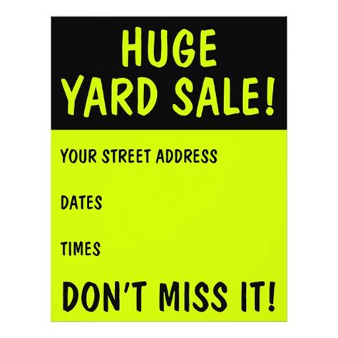 yard sale flyer template word yard sale flyer templates yard sale promotional flyers