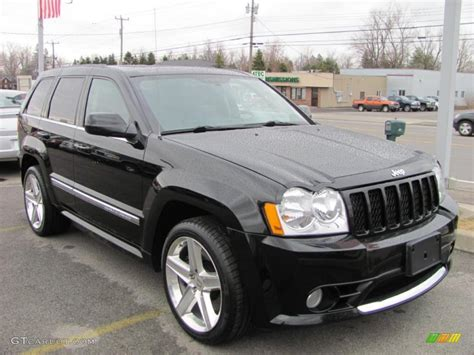 srt8 jeep black black 2007 jeep grand cherokee srt8 4x4 exterior photo