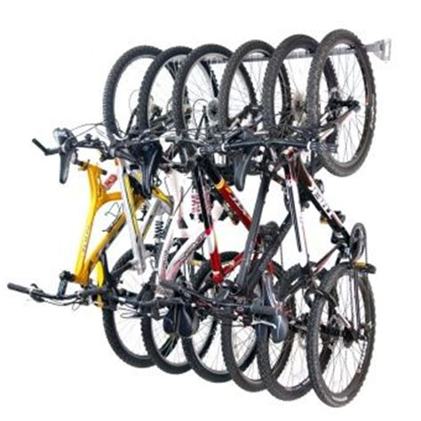 Wall Bike Rack For Garage by Bike Storage Rack Holds 6 Organizing Solution Store