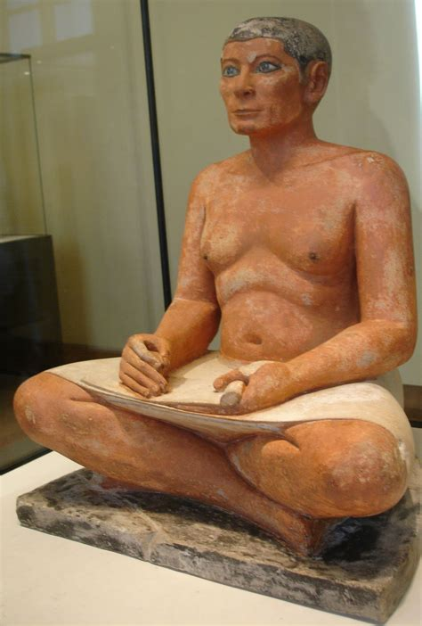 seated scribe louvre near eastern archaeology the louvre s seated scribe