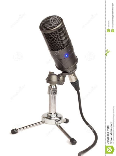 condenser microphone desk stand condenser mic on a table stand stock photo image 44681029
