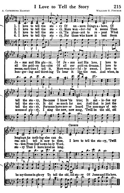 I To Tell The favorite hymns of praise 215 i to tell the story