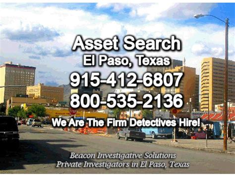 El Paso Search El Paso Asset Search Beacon Investigative Solutions