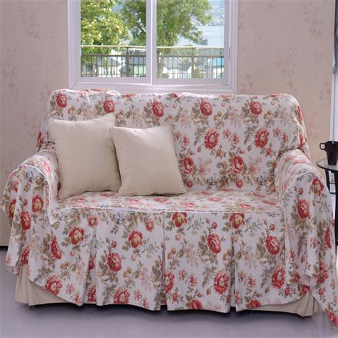 print fabric sofas free shipping hot sales cotton fabric print single double